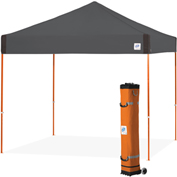 E-Z Up® Pyramid™ Instant Shelter, PR3SG10SO, 10x10', Orange Top With Grey Frame