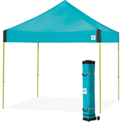 E-Z Up® Vantage™ Instant Shelter, VG3LA10SP, 10x10', Splash Top With Limeade Frame