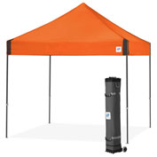 E-Z Up® Vantage™ Instant Shelter, VG3SG10SO, 10x10', Orange Top With Grey Frame