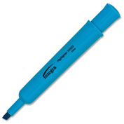 Integra™ Desk Highlighter, Chisel Tip, Fluorescent Blue Ink, 12/Pack