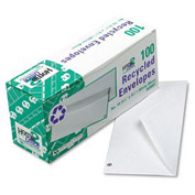 White Wove Business Envelopes, 24-lb, #10, Recycled, 100/Box