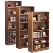 "Summit 84""H Bookcase - 32-1/8""W x 11-7/8""D x 84-3/4""H Medium Oak"