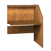 "Ironwood Study Carrel Adder, 36-5/8""W x 30""D x 47-7/8""H, Medium Oak"