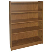 "48"" Adjustable Bookcase - 36""W x 11-7/8""D x 47-1/8""H Medium Oak"