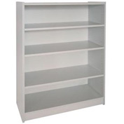 "48"" Adjustable Bookcase - 36""W x 11-7/8""D x 47-1/8""H Gray"
