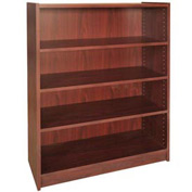 "48"" Adjustable Bookcase - 36""W x 11-7/8""D x 47-1/8""H Mahogany"