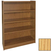 "48"" Adjustable Bookcase - 36""W x 11-7/8""D x 47-1/8""H Natural Oak"