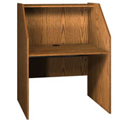 "Study Carrel Base - 37-3/8""W x 30""D x 47-7/8""H Medium Oak"