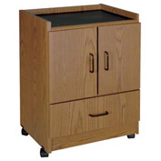 "Coffee Bar - 21-3/8""W x 17-7/8""D x 30-3/8""H Medium Oak"