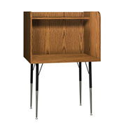 "Computer Carrel-Single - 35-5/8""W x 30""D x 52-3/8""H Medium Oak"