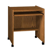 "Ironwood Computer Stand, 27-1/2""W x 23-7/8""D x 30-1/8""H, Medium Oak"