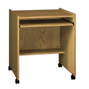 "Ironwood Computer Stand, 27-1/2""W x 23-7/8""D x 30-1/8""H, Natural Oak"