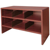 "Desk Top Organizer 29""W 2-Shelves - 29""W x 12""D x 18""H Mahogany"
