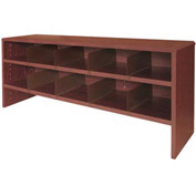 "Desk Top Organizer 48""W 2-Shelves - 47""W x 12""D x 18""H Mahogany"