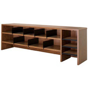 "Desk Top Organizer High Capacity - 58""W x 12""D x 18""H Medium Oak"
