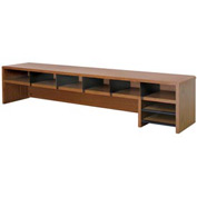 "Desk Top Organizer Low Profile - 58""W x 12""D x 12""H Medium Oak"