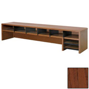 "Desk Top Organizer Low Profile - 58""W x 12""D x 12""H Mahogany"