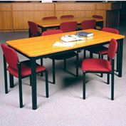 """Square Library Table - 48""""W x 48""""D x 29""""H Oiled Cherry"""