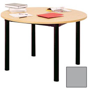 "Round Library Table - 48""W x 48""D x 29""H Gray"