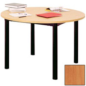 "Round Library Table - 48""W x 48""D x 29""H Oiled Cherry"