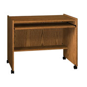 "Computer Station - 38""W x 24-1/8""D x 31-1/4""H Medium Oak"