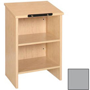"""Dictionary Stand - 23-3/8""""W x 16""""D x 35-1/8""""H Gray"""