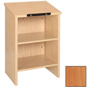 """End-of-Range Display Unit - 23-3/8""""W x 16""""D x 42-1/8""""H Oiled Cherry"""