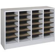 "Literature Organizer 24 Pocket - 40""W x 12-1/8""D x 26-1/2""H Gray"