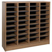 "Literature Organizer 36 Pocket - 40""W x 12-1/8""D x 37-7/8""H Medium Oak"