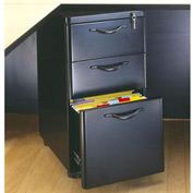 "Box/Box/File Mobile Pedestal - 14-3/4""W x 19-3/4""D x 27-1/4""H Black Granite"