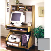 """Tower Comp Workstation - 38-1/4""""W x 24-1/4""""D x 60-1/4""""H Gray"""