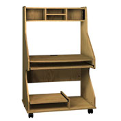 "Tower Comp Workstation - 38-1/4""W x 24-1/4""D x 60-1/4""H Natural Oak"