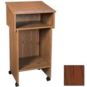 "Two Section Stand Up Podium / Lectern - 24""W x 19-3 / 4""D x 43-1 / 2""H Mahogany"