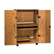 "Tower Security Unit - 32-1/4""W x 24""D x 52""H Medium Oak"