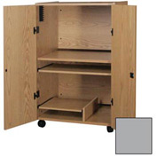 """Ironwood Computer Tower Security Unit, 32-1/4""""W x 24""""D x 52""""H, Gray"""
