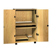 "Tower Security Unit - 32-1/4""W x 24""D x 52""H Natural Oak"