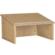 "Table top Podium / Lectern - 24""W x 19-3 / 4""D x 13-3 / 4""H Natural Oak"