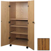 "Video Cabinet - 30-1/4""W x 24-7/8""D x 67-3/8""H Medium Oak"