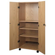 "Video Cabinet - 30-1/4""W x 24-7/8""D x 67-3/8""H Natural Oak"