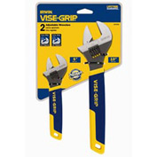 "2 Pc. Adjustable Wrench Set-6"" & 10"""