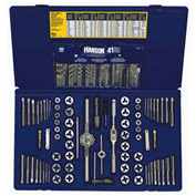 117 Pc. Machine Screw/Fractional/Metric Tap & Hex Die Set with Drill Bit Set