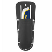 Saddle Leather Utility Knife Holder (Black)