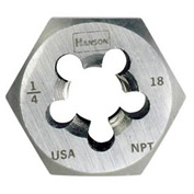 "Re-threading Hexagon Die-1""-11 1/2 NPT, HCS Taper Pipe Die"