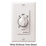 Intermatic FD415M 15 Minute 125-277V DPST Decorator Series Spring Wound Timer, Ivory