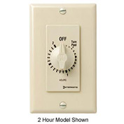 Intermatic FD46H 6 Hour 125-277V DPST Decorator Series Spring Wound Timer, Ivory