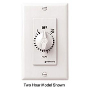 Intermatic FD46HW 6 Hour 125-277V DPST Decorator Series Spring Wound Timer, White