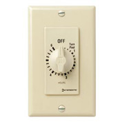 Intermatic FD6H 6 Hour 125-277V SPST Decorator Series Spring Wound Timer, Ivory