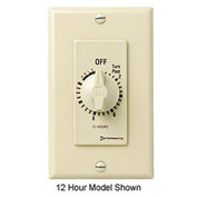 Intermatic FD6HH 6 Hour 125-277V SPST Decorator Series Timer w/Hold For Continuous Duty, Ivory