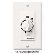 Intermatic FD6HHW 6 Hour 125-277V SPST Decorator Series Timer w/Hold For Continuous Duty, White