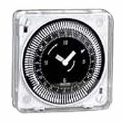 Intermatic MIL72ESTUZH-24 24-Hr, Electromech Timer, Flush Mount, Override, w/o Battery Backup, 24V